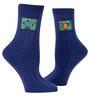Blue Q Tag Socks - Fucking Flower Small/Medium