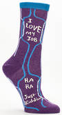 Blue Q Socks - I Love My Job