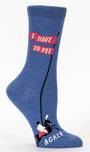Blue Q Socks - I Have to Pee . . . Again