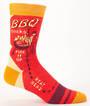 Blue Q Men's Socks - BBQ Socks