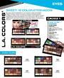 LA Colors - Sweet! 16 Colour Eyeshadow Display - 60pcs