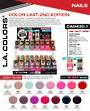 LA Colors - Color Last Nail Polish Display - 192pcs