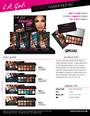 LA Girl Fanatic Eyeshadow Palettes Display - 24pcs