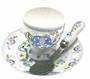 Blue Elephant Egg Cup, Spoon, Saucer Set
