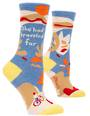 Blue Q Socks - She Had Traveled Far