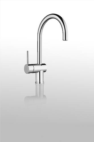 Gooseneck Mixer, Bright Chrome