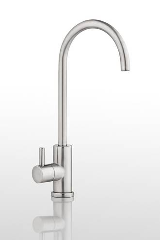 Round Slimline Tap, Brushed Chrome