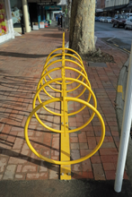 Bridge St bike rack