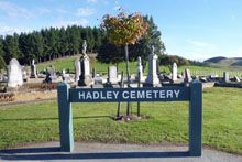 Central Hawkes Bay Cemetery plank sign