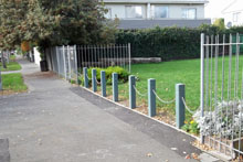 Christchurch CBD Replas 125mm bollards 2014