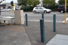 Christchurch CBD Replas 125mm bollards