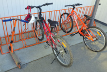 Korokoro School bike rack after powder coat