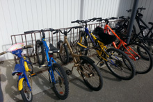 Korokoro School bike rack