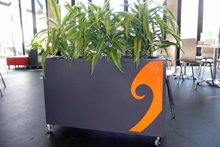 Metal Art planters with Koru