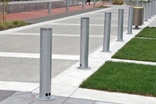 Retractable bollards, Lower Hutt Civic Square