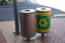 Large Civic Bins HCC with Sustainability labels OC