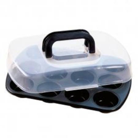 Bake & Take Muffin Pan with Lid 38x27cm