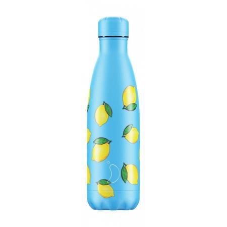 Insulated Bottle Icons Lemon 500ml - NEW