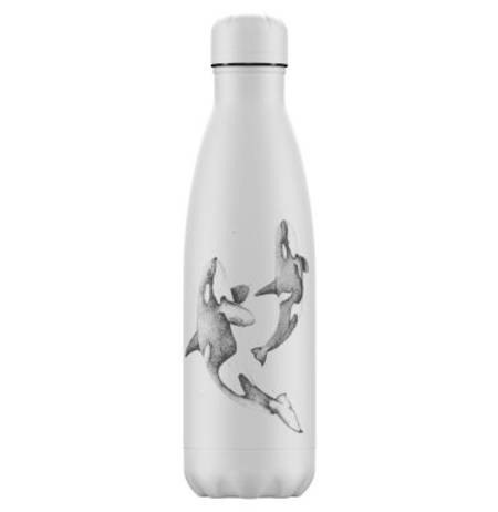 Insulated Bottle White Orca 500ml - NEW