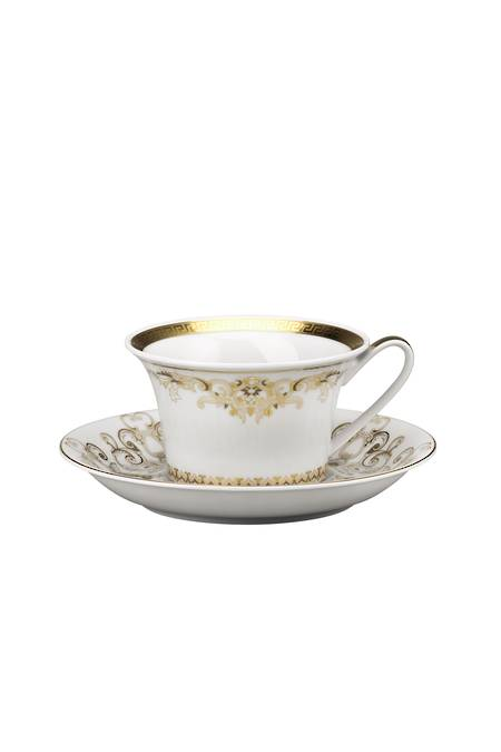 Gold Tea Cup and Saucer 14640