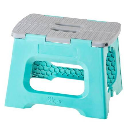 Compact Turquoise Stool 23cm 8918 - NEW