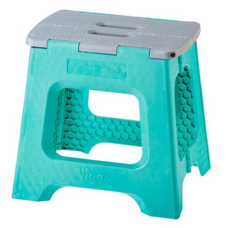 Compact Turquoise Stool 32cm 8914 - NEW