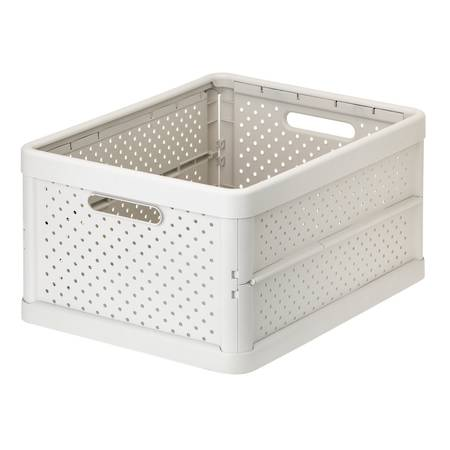Foldable Crate 32ltr Sand White - NEW