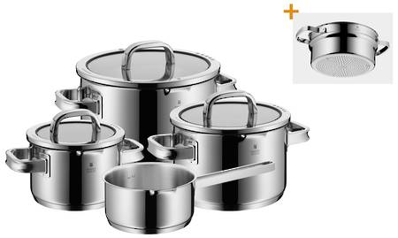 WMF Function 4 BLACK 5pce Cookware Set with Saucepan  - Promotion!!