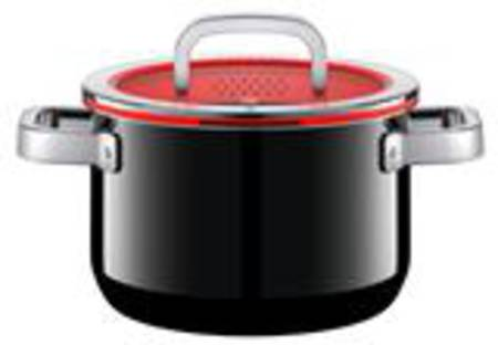 High Casserole with Lid 20cm 3.7ltr - Black