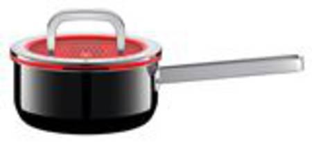 Saucepan with Lid 16cm 1.3ltr - Black