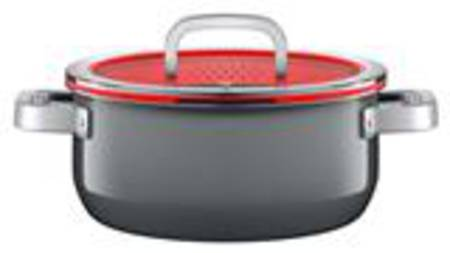 Low Casserole with Lid 24cm 4.4ltr - Platinum