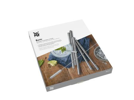 Baric Stainless Steel Straws 6pce set - straight - NEW ITEM!!