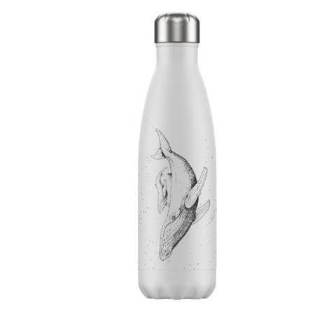 Insulated Bottle White Whale 500ml - NEW