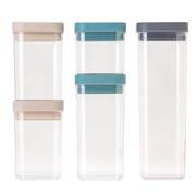 Homey Food Containers 5pce Set - NEW