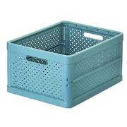 Foldable Crate 32ltr Stone Blue - NEW