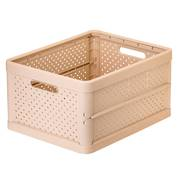 Foldable Crate 32ltr Peach Pink - NEW
