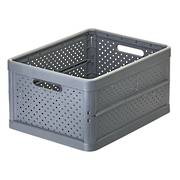 Foldable Crate 32ltr Charcoal Black - NEW