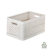 Foldable Crate 11.3ltr Sand White - NEW