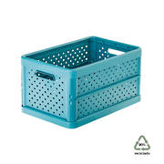 Foldable Crate 11.3ltr Stone Blue - NEW