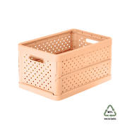 Foldable Crate 11.3ltr Peach Pink - NEW