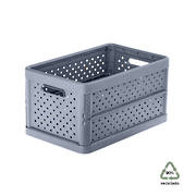 Foldable Crate 11.3ltr Charcoal Black - NEW
