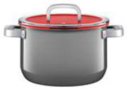 High Casserole with Lid 24cm 6.4ltr - Platinum