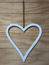 Hanging wodden love heart