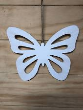 Hanging wooden butterfly