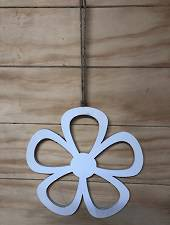 Hanging wooden flower