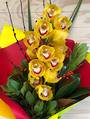 Striking long lasting bright orchid bouquet
