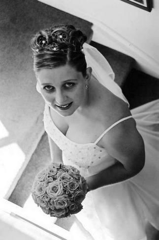 mobile hairdresser testimonial wedding hair up photo