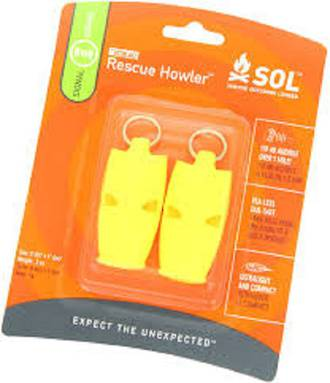 Adventure Medical Whistle Rescue Howler Whistle x2