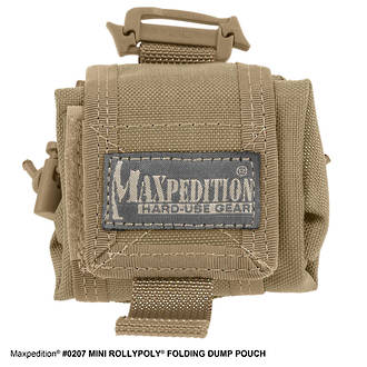 Maxpedition MINI ROLLYPOLY™ FOLDING DUMP POUCH - Khaki