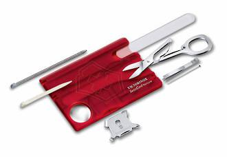 Victorinox Swisscard Nailcare - Red Transparent